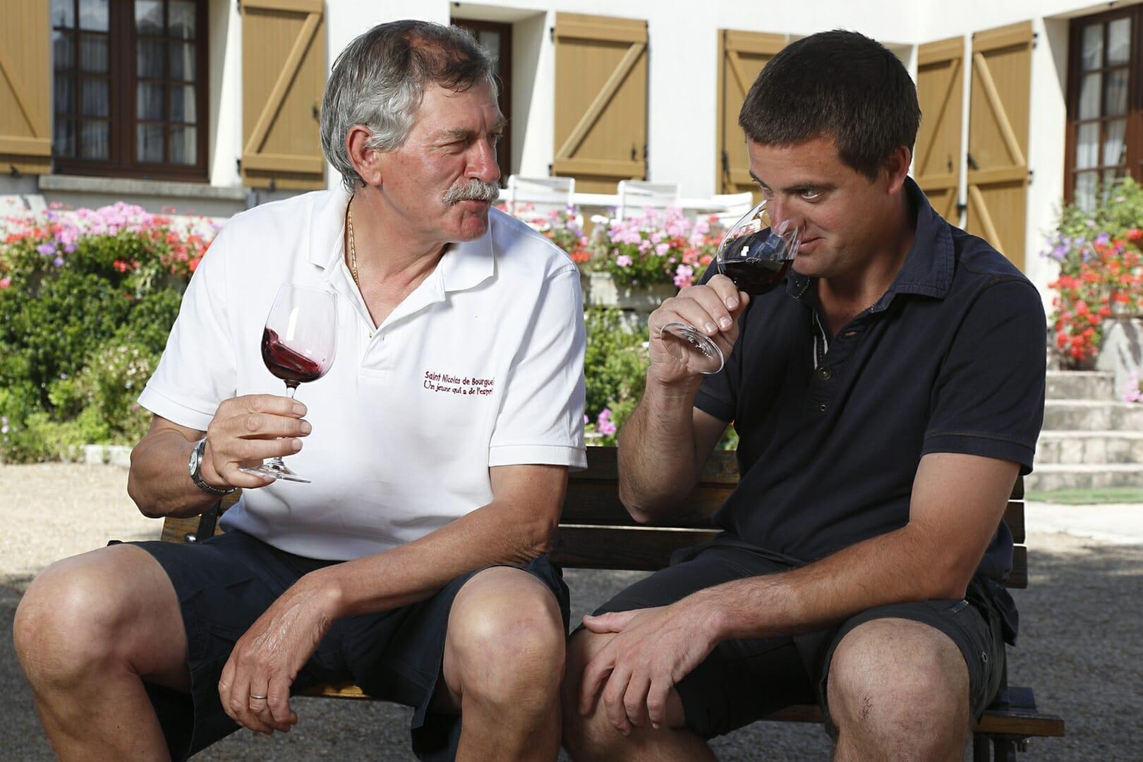 Domaine BRUNEAU Yvan Damien BRUNEAU Dégustation de vins Saint Nicolas de Bourgueil