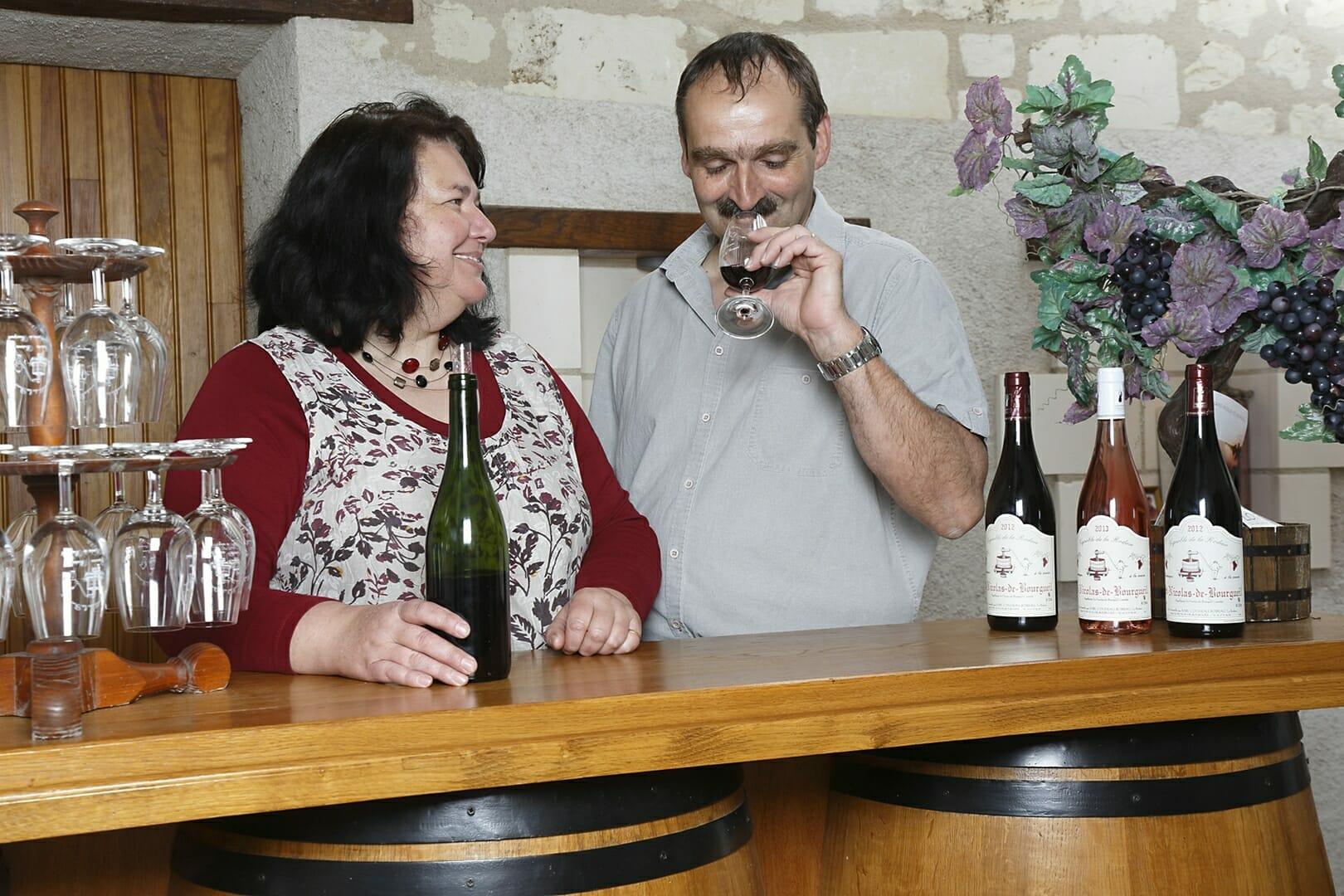 Vignoble de la rodaie Saint Nicolas de Bourgueil Christel et Claudine COUSSEAU